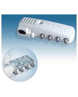 Amplificador de Interior televes para TDT y satelite 2 salida+TV