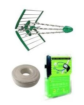 Kit Antena + Amplificador + Fuente + Cable