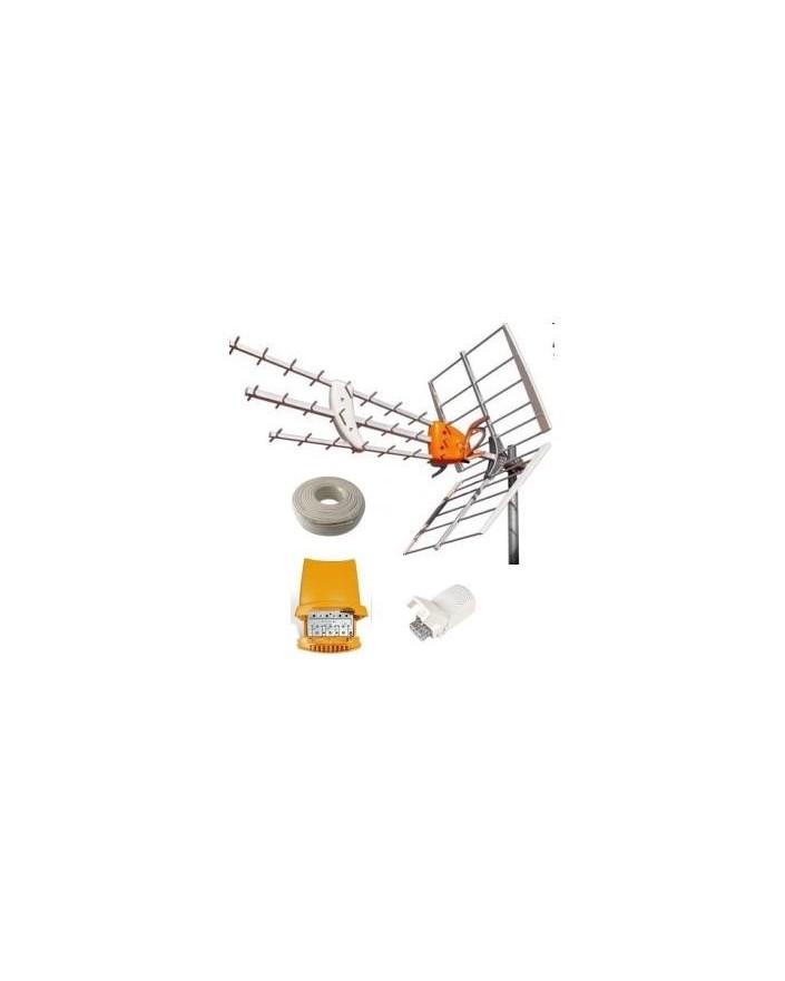 Kit antena amplificador televes for Amplificador tv cable coaxial