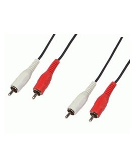 Cable Audio 2RCA macho-2RCA macho 1.5m/Edc