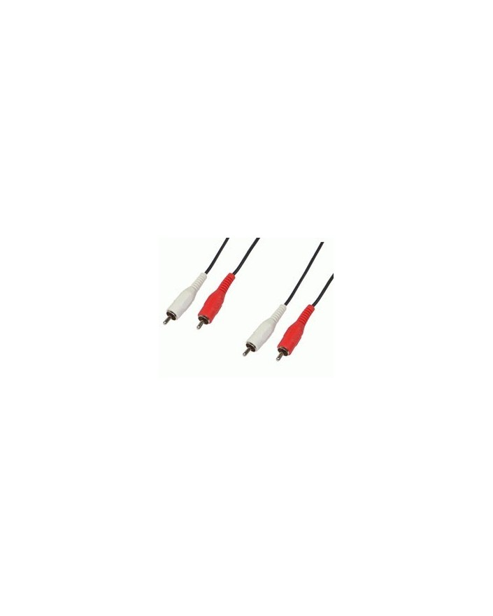 Cable Audio 2RCA macho-2RCA macho 1.5m/Edc