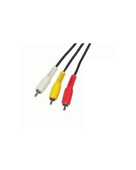 Cable Audio-Video 3RCA macho-3RCA macho 2metros/Edc