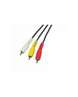 Cable Audio-Video 3RCA macho-3RCA macho 2metros/Edc