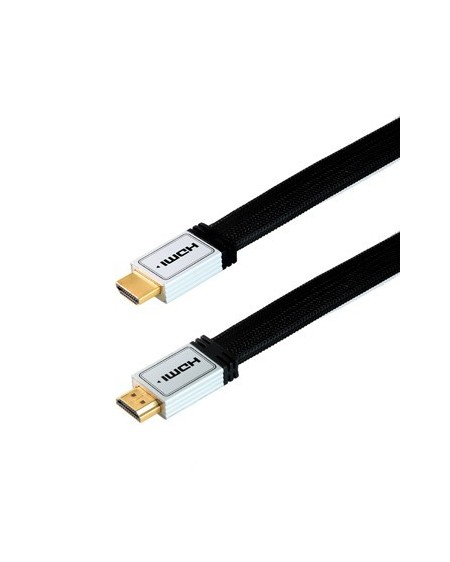 Cable HDMI HQ Plano, conector metalico+filtro/Edc