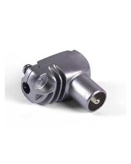 Conector CEI Blindado macho acodado 9,5 mm. EasyF /Televes 413201