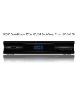 U6200, Receptor TDT HD doble tuner CI  FTE MAXIMAL