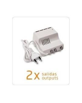Amplificador de interior televes para tdt y satelite 2 salida tv 5 2150mhz f televes 5530 - Amplificador antena tv interior ...