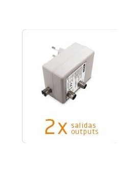 Amplificador de interior televes para tdt y satelite 2 salida tv 5 2150mhz f televes 5530 - Amplificador de antena interior ...