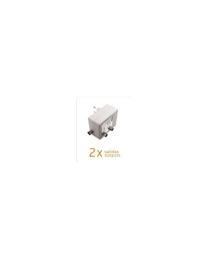Amplificador de antena para Interior TV (UHF/VHF) Engel 0349E 2 salidas
