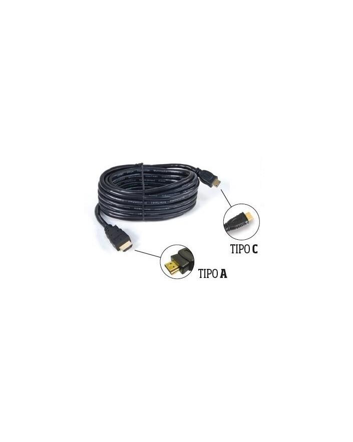 Cable HDMI Macho tipo A / Macho tipo C (5 m) /Engel