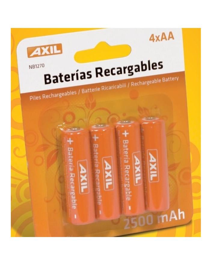 Pack 4 pils recargables AA 2500MAh