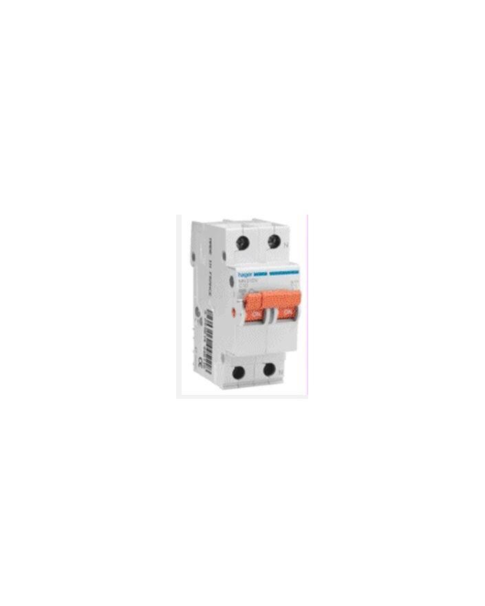 Magnetotérmico serie MN 1P+N 2 módulos 40A CURVA C
