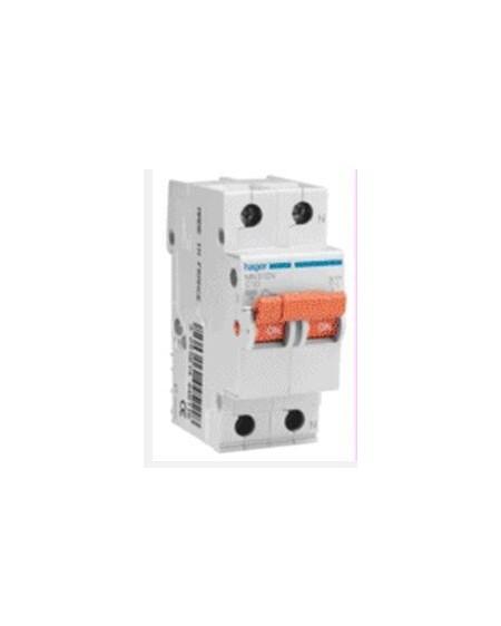 Magnetotérmico serie MN 1P+N 2 módulos 20A CURVA C