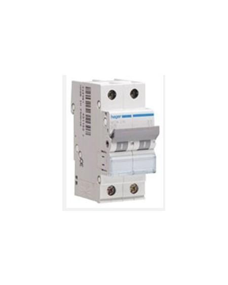 Magnetotérmico serie MU 1P+N 2 módulos 10A CURVA C