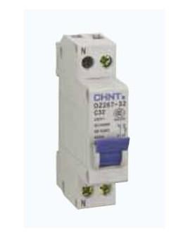 Magnetotérmico 1P+N 1 módulo 10A CURVA C CHINT