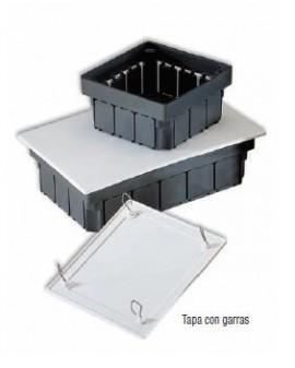 Caja empotrar tapa con garras 100x100x50