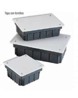 Caja empotrar con tapa de tornillos 160x100x50