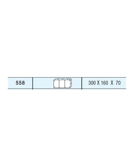 Caja empotrar tipo europeo 300x160x70
