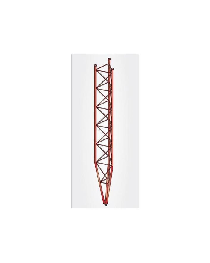 Tramo Inferior Basculante Torre 360 Zinc+Rojo 3m