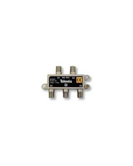 Repartidor Interior SCATV 4 salidas conector F 1000 MHz