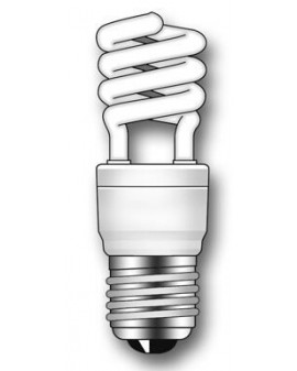 Lámpara Duralux MINI TWIST ECO Luz natural 7W E27