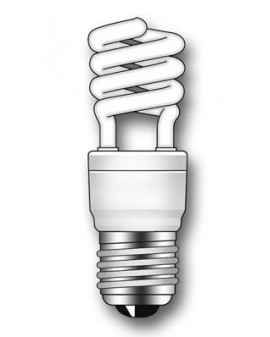 Lámpara Duralux MINI TWIST ECO Luz natural 9W E27