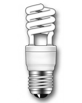 Lámpara Duralux MINI TWIST ECO Luz natural 15W E27