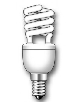 Lámpara Duralux MINI TWIST ECO Luz natural 7W E14
