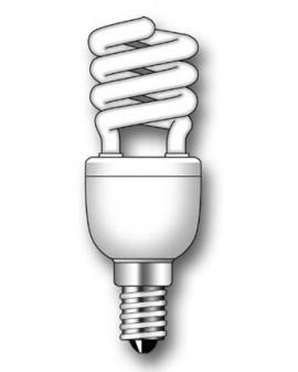 Lámpara Duralux MINI TWIST ECO Luz natural 12W E14
