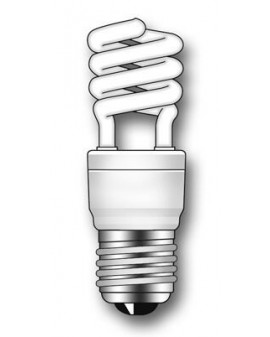 Lámpara Duralux MINI TWIST ECO Luz íntima 12W E27