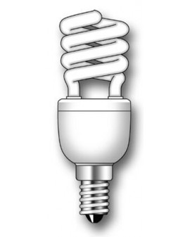 Lámpara Duralux MINI TWIST ECO Luz íntima 7W E14