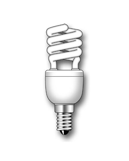 Lámpara Duralux MINI TWIST ECO Luz íntima 7W E14