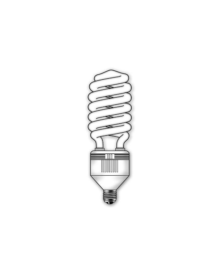 Lámpara SuperDuralux Twist Luz íntima 65W E27