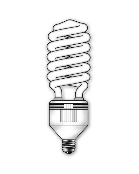 Lámpara SuperDuralux Twist Luz fría 65W E27