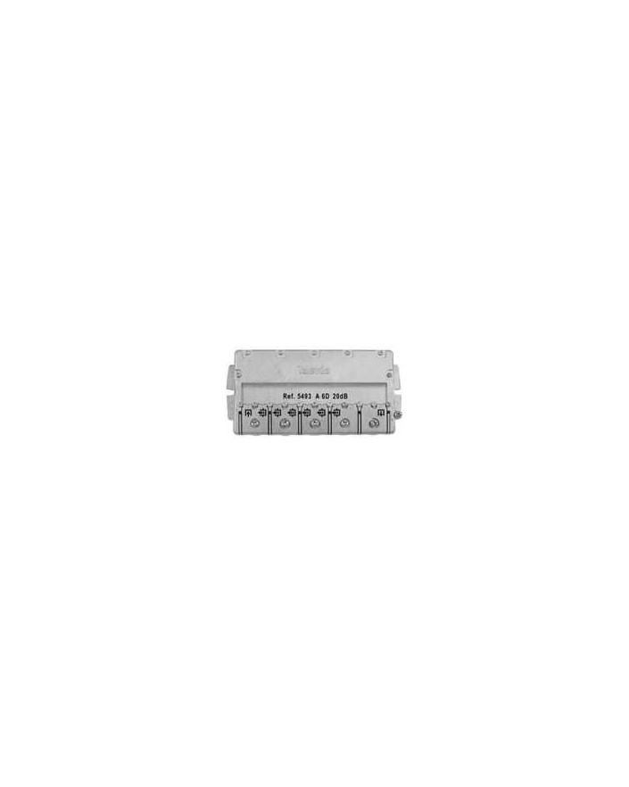 Derivador conector easy F, 6 salidas, 20 dB Interior A (planta 2 y 3)