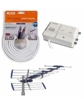 Kit Antena AN6000BI + Amplificador AM6141 + Cable CA0728E