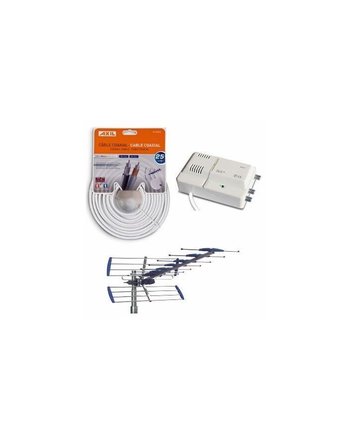 Kit Antena AN6000BI + Amplificador AM6141 + Cable CA0728E