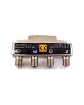 Derivador conector F, 2 salidas, 18 dB  Interior B (plantas 4 y 5)