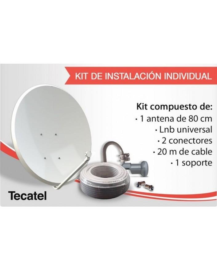KIT De Instalación Individual Para Satélite Tecatel
