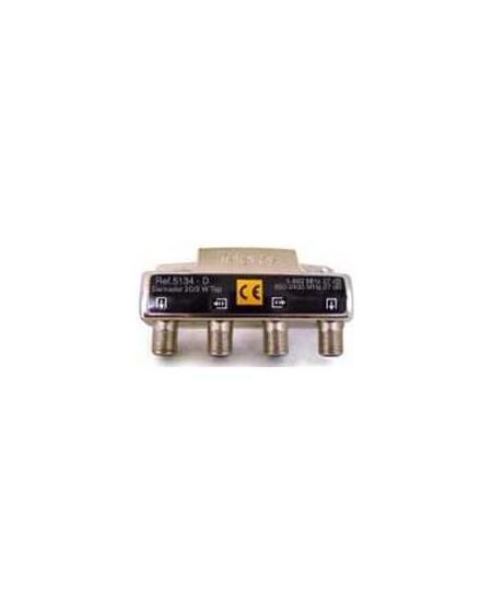 Derivador conector F, 2 salidas, 27 dB Interior D (planta 8...10)