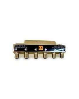 Derivador con conector F, 4 salidas 19 db Interior con paso DC (B planta 4 y 5)