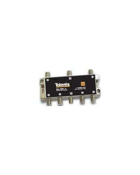 Derivador conector F, 6 salidas, 21 dB Interior A (planta 2 y 3)