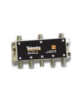 Derivador conector F, 6 salidas, 25 dB Interior TA (plantas 4...6)