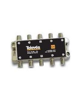 Derivador con conector F, 8d 18db TA (planta 1).