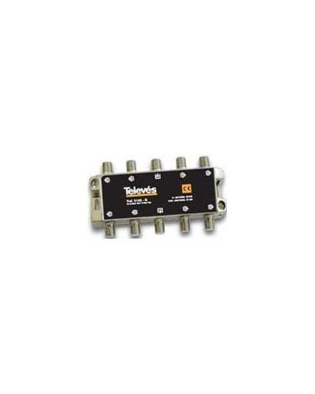 Derivador conector F, 8 salidas, 20 dB Interior A (plantas 2 y 3)