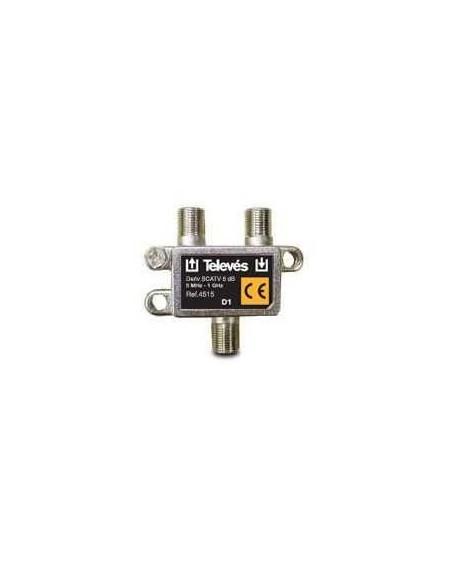 Derivador con conector F, 1d 6db
