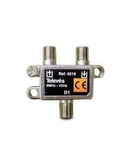 Derivador con conector F, 1d 8db