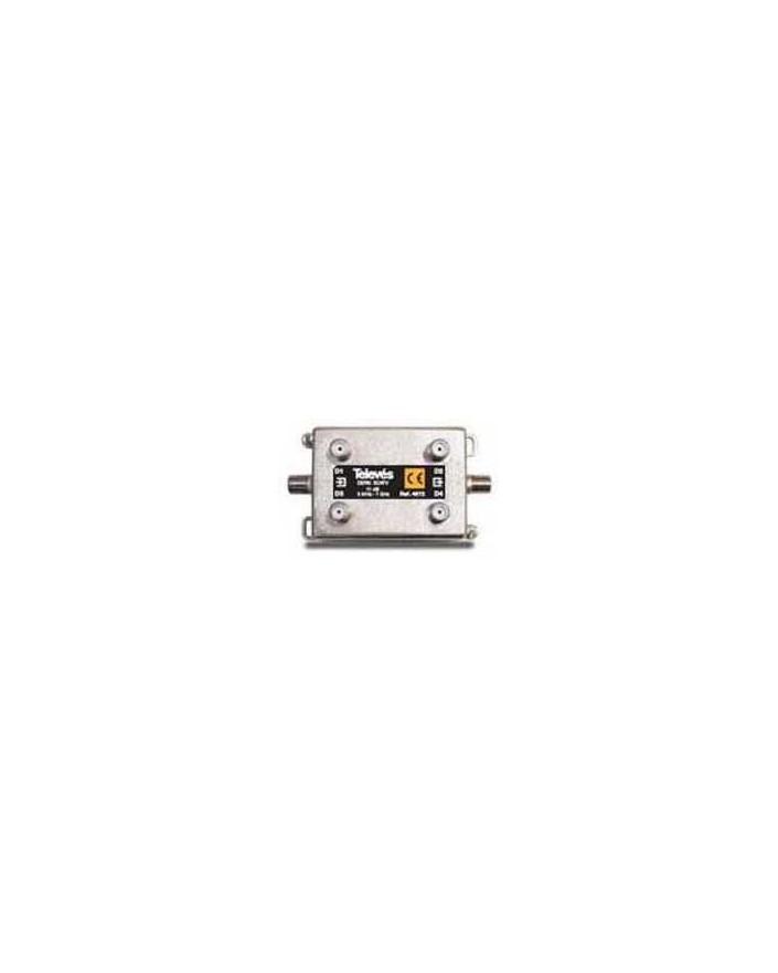 Derivador con conector F, 4d 11db