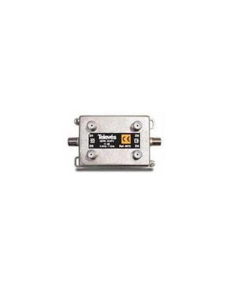 Derivador conector F, 4 salidas, 14 dB Interior
