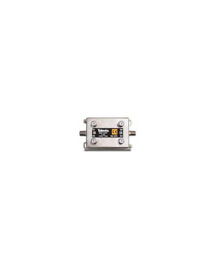 Derivador conector F, 4 salidas, 17 dB Interior